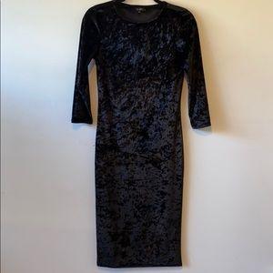 Top shop black velvet dress
